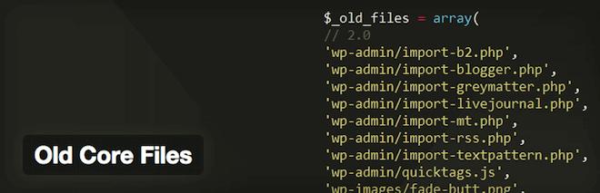 Imagem de capa do plugin WordPress Old Core Files
