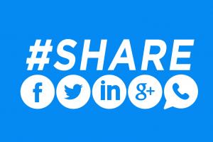 botões de compartilhamento