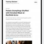 Twenty Sixteen - iPad portrait