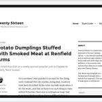 Twenty Sixteen - iPad landscape