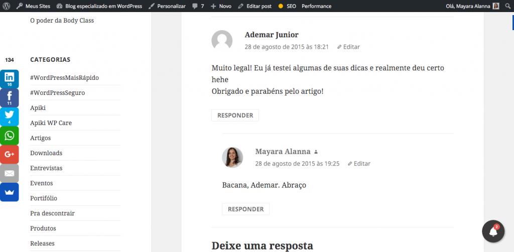 Gravatar e comentários no WordPress