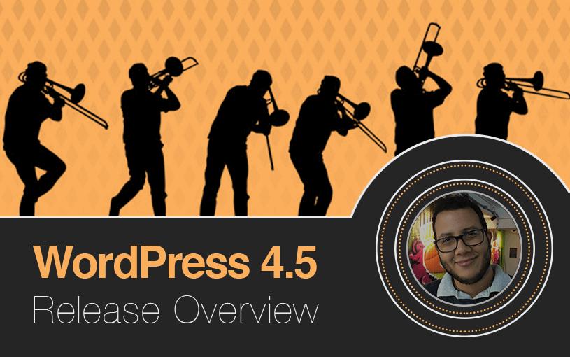 menu de personalização no WordPress 4.5