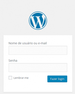 Página de login do WordPress 4.5