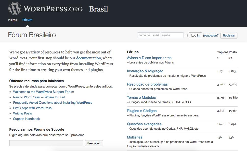 Suporte gratuito WordPress