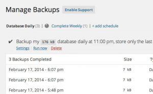 backupwordpress backup