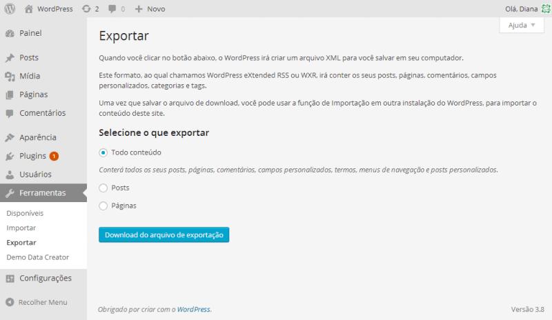 exportar-conteudo-wordpress-foto