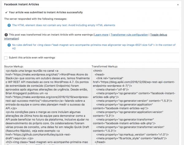 Problemas de marcação em um post WordPress