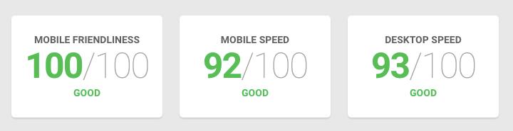 """Exemplo de resultado da ferramenta """"Test with Google"""""""