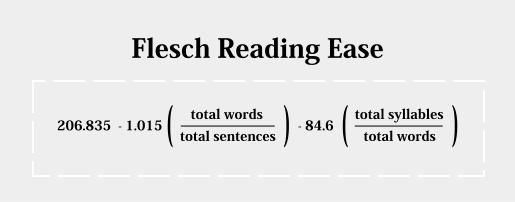 Exemplo de cálculo de readability
