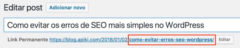 Erro de SEO evitado com o uso de URL amigável