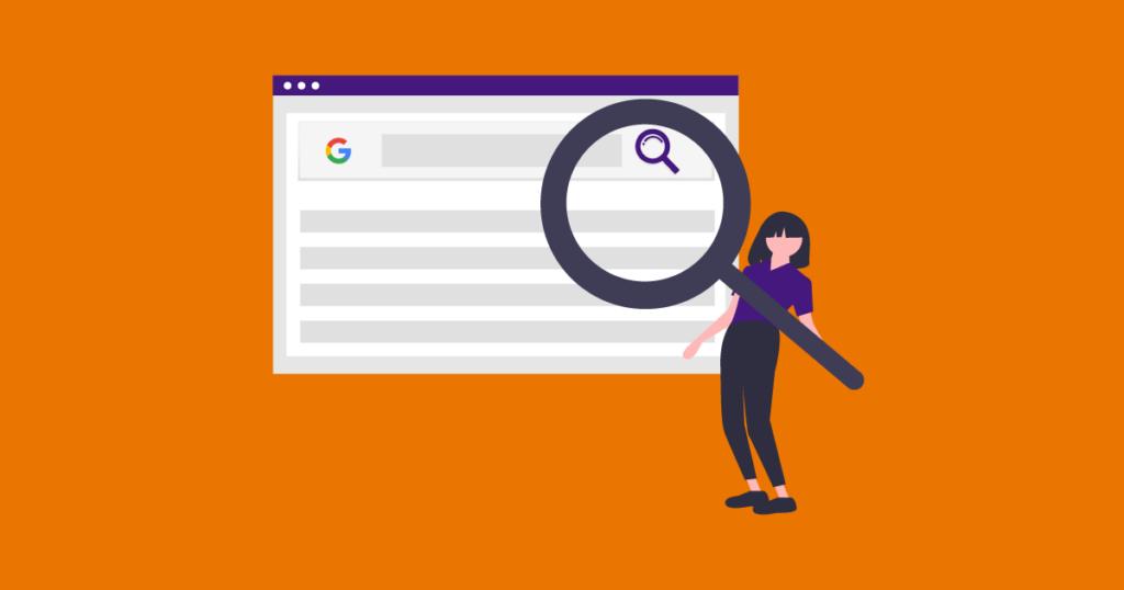 Ilustração para simular intenção de busca no Google